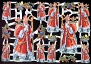 Saint Nicholas Reproduction Chromolithograph Embossed Die-Cut Reliefs