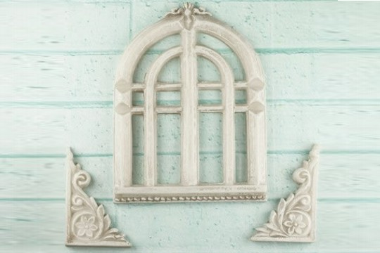 Shabby Chic Resin Treasures - Old Church Window