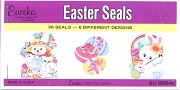 EUREKA Packet of Vintage Eureka Seals - Easter Seals - 36 Gummed (Water-Activated) Seals in 6 Designs