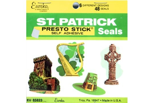 Vintage St Patrick's Day Stickers from Eurkea - Presto Stick Adhesive
