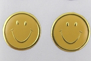 Embossed Metallic Seals - Smiles (Happy Faces) - Package of 24