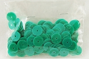 Vintage Green Celluloid Sequins - 5 Gram Package
