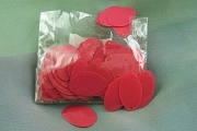 Vintage Red Oval Celluloid Sequins - 4 Gram Package