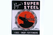 Vintage Card of Prym's Super Steel Snap Fasteners - 1 Dozen