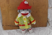 Small Sock Monkey Firefighter