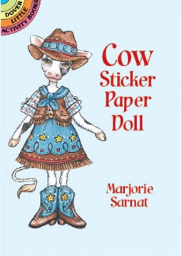 Sticker Paper Doll - Cow
