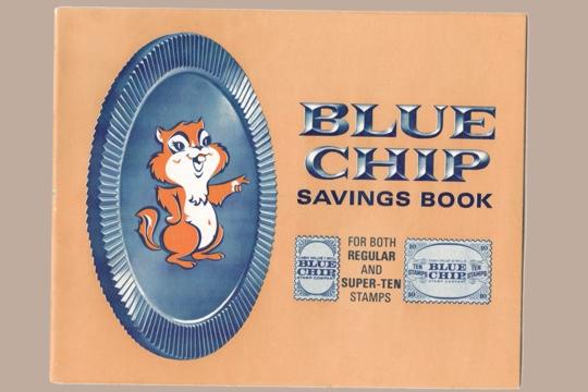 Unused Vintage Blue Chip Stamp Booklet