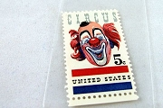 Vintage Mint 1966 Circus Clown 5¢ Postage Stamp (USA)