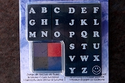 Small Rubber Stamp Alphabet Set Mounted on Foam
