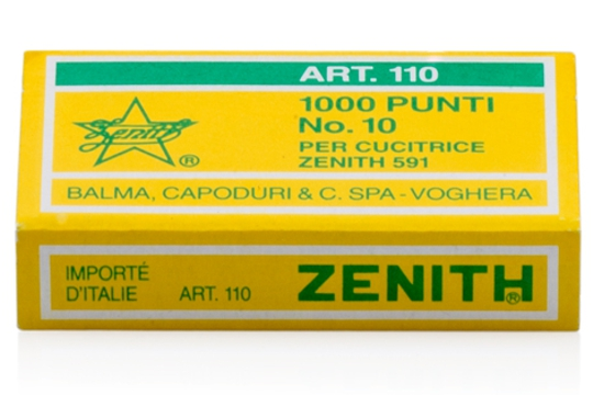 Article 110 staples, Box of 1,000 for Zenith Stapler 591