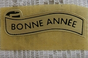 Vintage Bonne Année (Happy New Year) Self-Adhesive Sticker