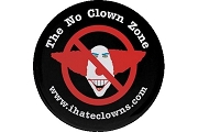 No Clown Zone Sticker
