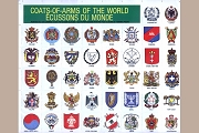 Vintage Gummed Stickers - Coats of Arms of the World