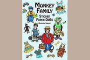 Monkey Family Sticker Paper Dolls