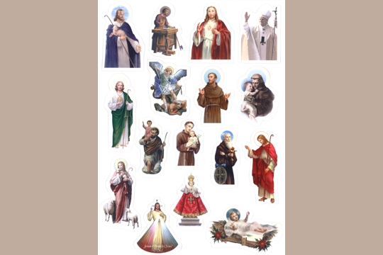 16 Self Stick Male Saint Stickers