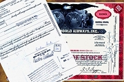 Vintage Stock Certificate