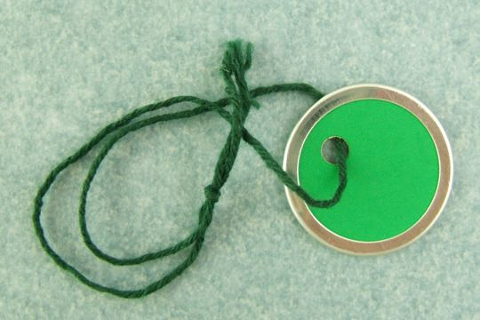 Vintage Mini Green Key Tags with Matching Green Strings - Package of 10