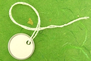 Mini White Key Tags with White Strings (new) - Package of 10
