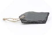 Natural Slate Tag with Jute Hanger