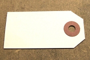 White Mini Tag with Brown Reinforcement (Package of 10)