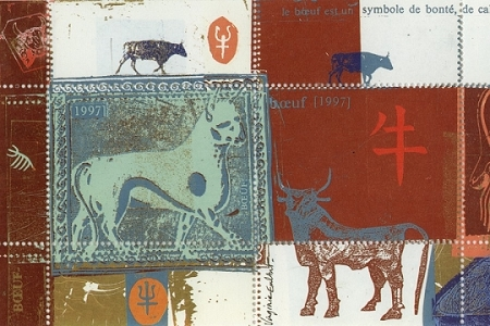 Lunar New Year of the Buffalo (Buffle) or Ox Artistamps/Faux Postes