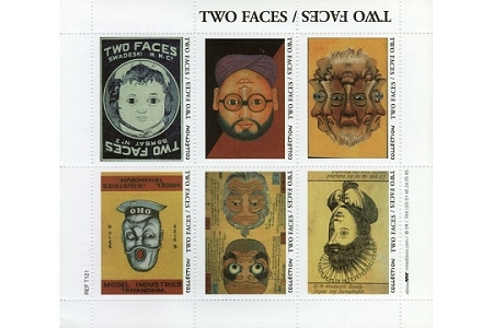 Two Faces - Artistamps / Faux Postes