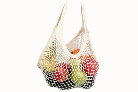 Traditional European String Shopping Bag with Short Handles (Tote)