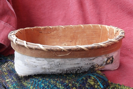 Birch Bark Basket - Handmade in the Indigenous Style