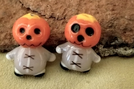 Lampwork Pumpkin Head Bead