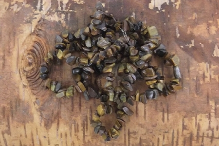 35-Inch Strand of Lovely Tiger's Eye Semi-Precious Chips