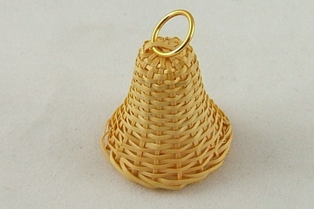 Vintage Wicker Bell Embellishment
