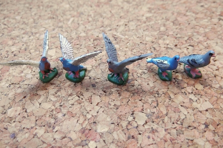 Miniature Vintage Hand Painted Bird - Choice of 5 Different Birds