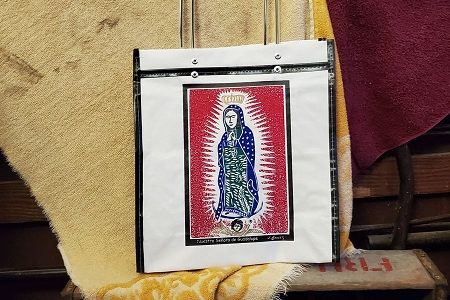 Guadalupe Vinyl Tote Bag by Borges