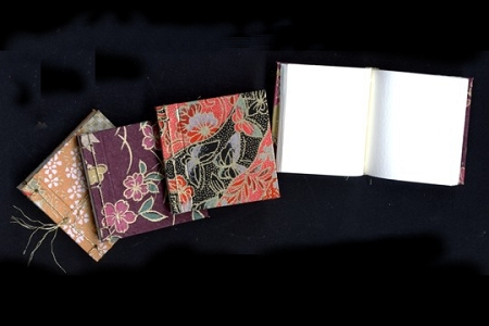 Tiny Handmade Book - 1-1/4 Inches Square - Now Choose Cover Design