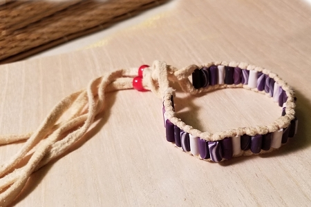 Reproduction Single Row Wampum Bracelet