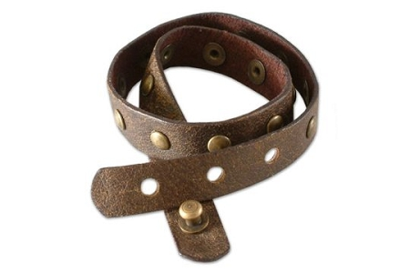 Leather Bracelet: Wrapped in Brown