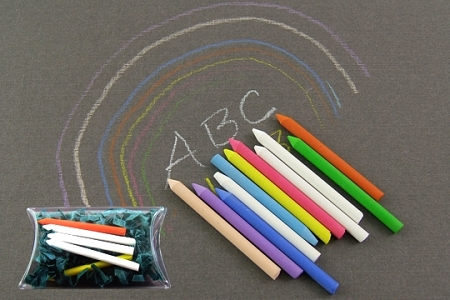 Package of 5 Tiny Assorted Color Chalks