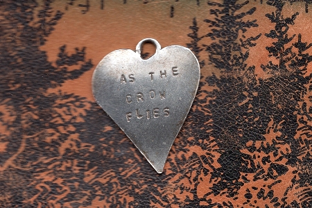 As the Crow Flies Sterling Silver Heart Charm