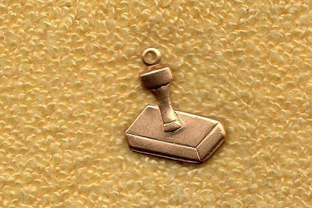 17x13mm Brass Rubber Stamp Charm