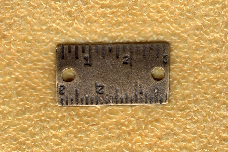 Antiqued Bronze Ruler Charm or Jewelry Component