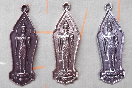 Tibetan Buddha Charm in Your Choice of Metal Finish