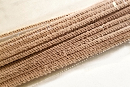 3 mm Beige Chenille Stems