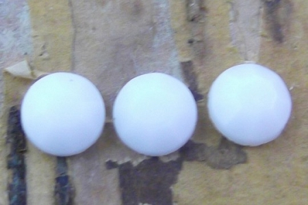 Vintage 5mm White Glass Flatback Faceted Component