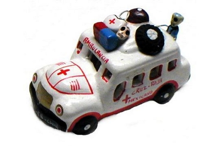 Ambulance Day of the Dead Figurine