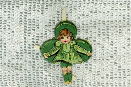 1930s Die-Cut Embossed Irish Lass