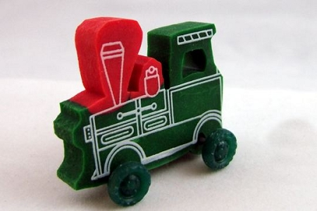 Locomotive Engine with Wheels that Move Eraser