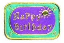 Elegant Embossed Metallic Foil Seals - Sunny Happy Birthday - Package of 12