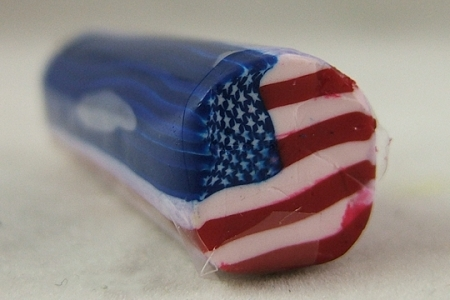 American Flag DIY Fimo Polymer Clay Roll or Stick