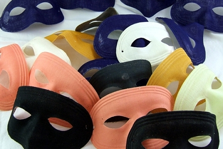 Grabbag of 3 VINTAGE Fabric Masks with NEW Elastics