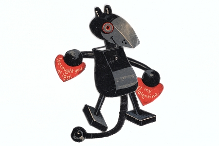 Rare 1920s Vintage Micky Mouse (not Mickey Mouse) Mechanical Valentine!